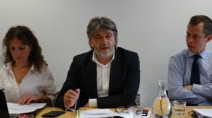 Emmanuelle Latouche (Cerdd), Emmanuel Cau (Conseil Régional) et Yann Gourio (ADEME)