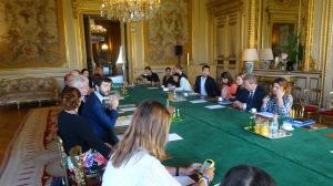 La délégation au Quai d'Orsay le 30 août dernier