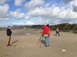 Forte présence de la presse étrangère sur le camps de Calais, en vue de son démantelement