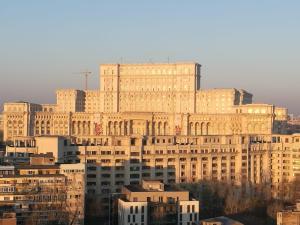 Le Palais du Parlement à Bucarest.