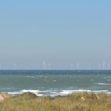 Photomontage éolienne dunkerque